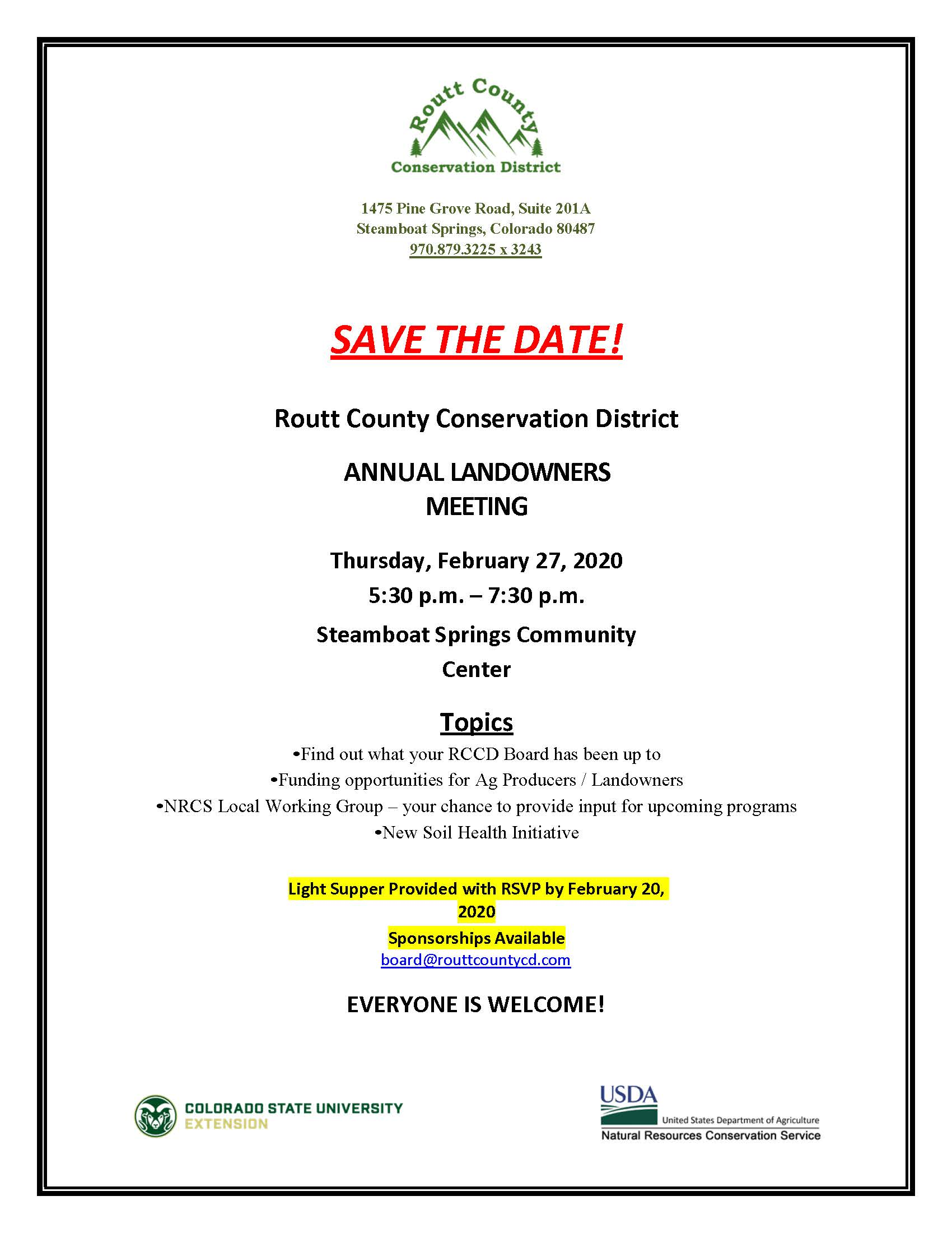 Annual Landowners Meeting